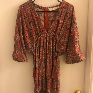 Her Name Is Grace Floral Quartersleeve Romper